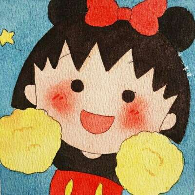 樱桃小丸子可爱微信头像 卡通