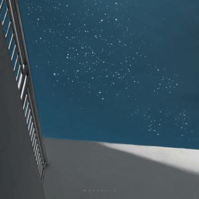 微信风景头像星空背景图