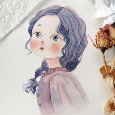 清新可爱少女手绘头像