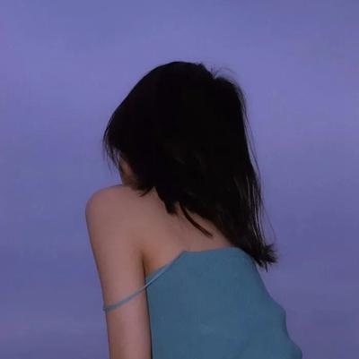 高清蓝色系女生头像 真人