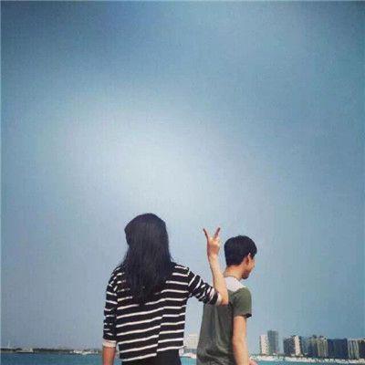 情侣头像唯美有意境背影海边头像