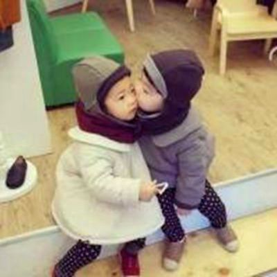 可爱小孩子情侣头像一对