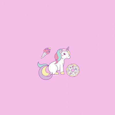 粉色系可爱独角兽图片头像